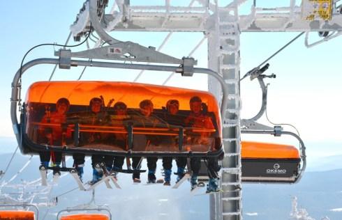 Okemo Sunburst, Okemo orange chairlift