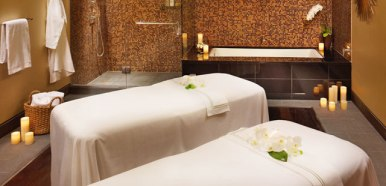 Indulge in a couple's massage at the Spa at Viceroy Snowmass.