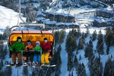 Trade your office desk chair for Canyons' Orange Bubble Express. | Photo: Justin Olsen/Canyons Resorts
