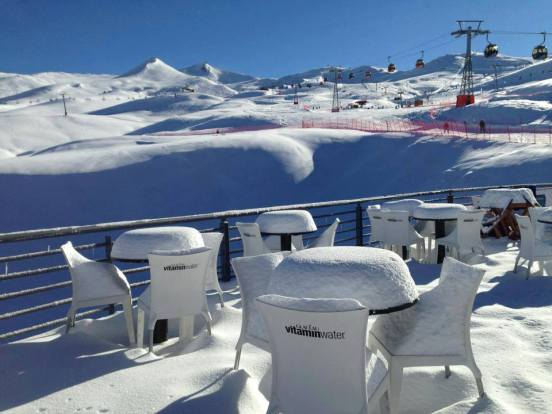 Thanks to few crowds, you can experience fresh tracks days after the storm at Valle Nevado.   Photo: Valle Nevado