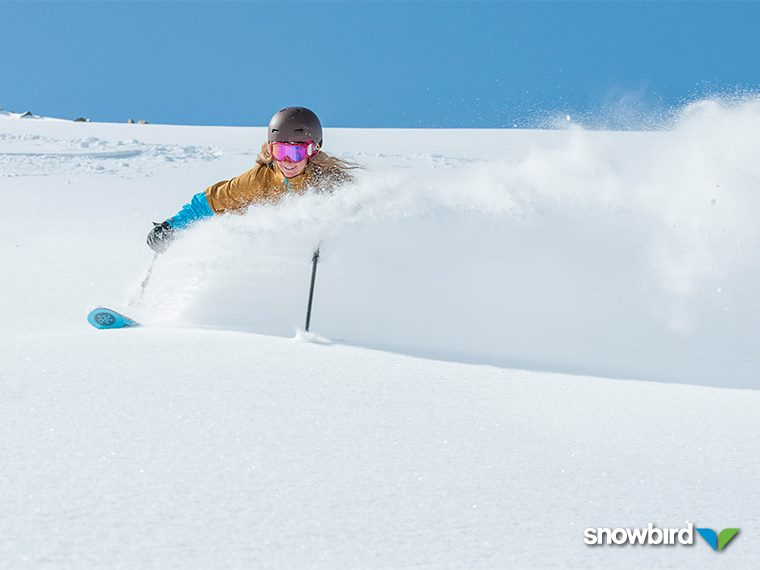 April 9 powder day at Snowbird