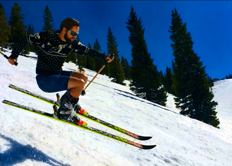 straight skis, skiing on straight skis