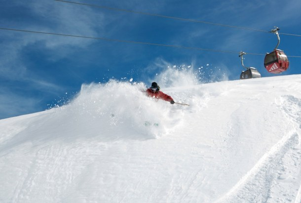 Valle Nevado receives the most snow of all ski resorts in Chile's central valley.   Photo: Valle Nevado