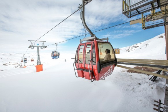 Valle Nevado is the home of Chile's first ski resort gondola.   Photo: Valle Nevado
