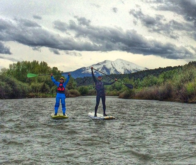 SUP Mt Sopris, Stand up paddleboard Roaring Fork River