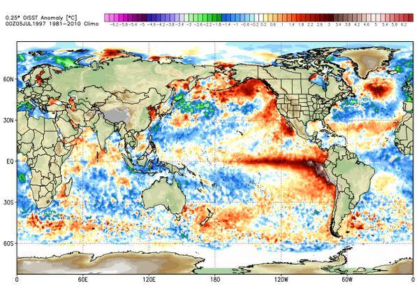 SST July 1997 El Nino