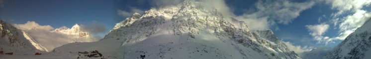 Portillo peaks covered in snow