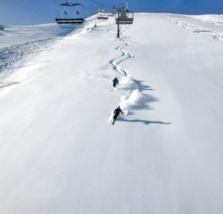 The scenic Revelation Bowl provides open powder skiing and the opportunity to make some fast turns on a groomed slope. | Photo: Telluride Ski Resort