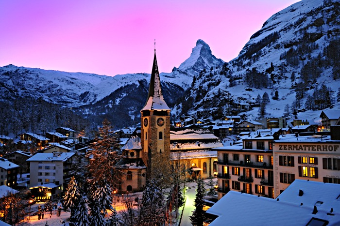 At the foot of the iconic Matterhorn is the Swiss storied ski town of Zermatt. | Photo: Zermatt Tourism