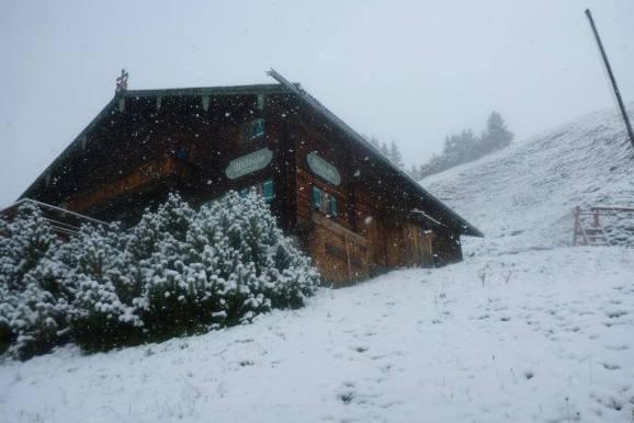 Kitzbuhel october snow