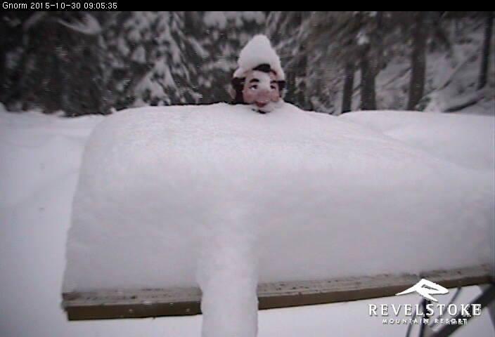 new snow at Revelstoke