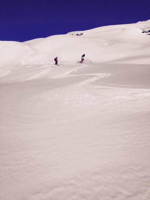 Playful, rolling powder fields were the perfect way to warm up.