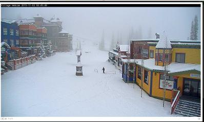 New snow at Silver Star