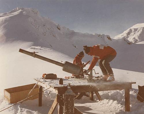 The avalaucher gun was developed in Whistler. | Photo: Whistler Museum