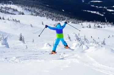Big White powder skiing