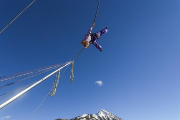 At the Adventure Park, your kids will be delighted by a bungee trampoline, snow tubing, covered mini golf and a climbing wall. | Photo: Chris Segal/Crested Butte Mountain Resort