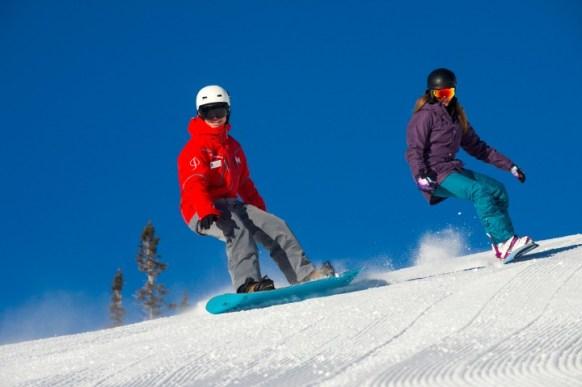 Aspen Snowmass snowboard lesson