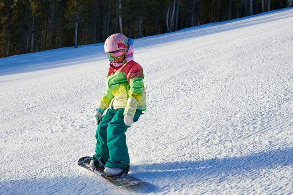 Learning to ride in Breckenridge. | Photo: Jack Affleck, Vail Resorts