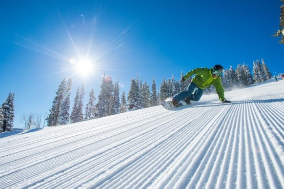 Perfectly groomed corduroy. | Photo: Aspen Snowmass