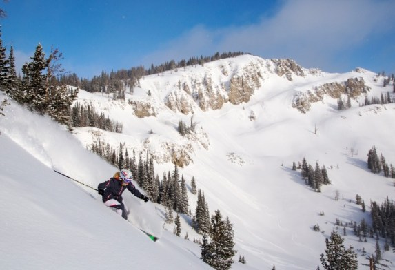 Jackson Hole bowl skiing