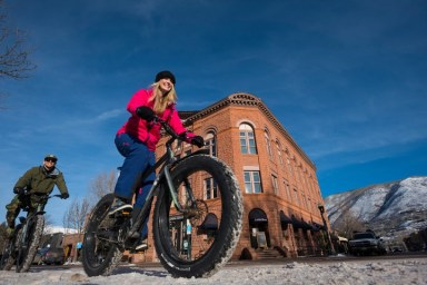 Fat bikes are perfect for cruising through historic downtown Aspen. | Photo: Aspen Snowmass