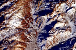 Earth's mountains, as seen from space. | Photo: Scott Kelly, NASA
