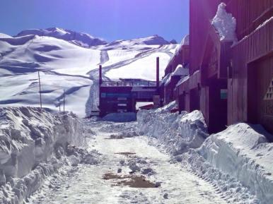 Valle Nevado snow storm