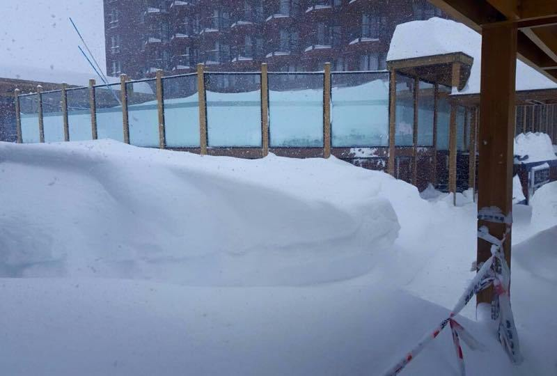 snow in Valle Nevado Chile