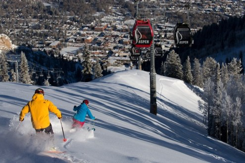 Skiing right down into town from Aspen Mountain is pretty darn convenient. | Photo: Aspen Snowmass