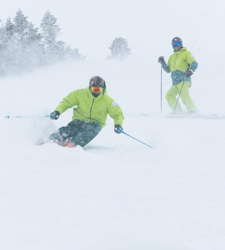 how to learn to ski powder