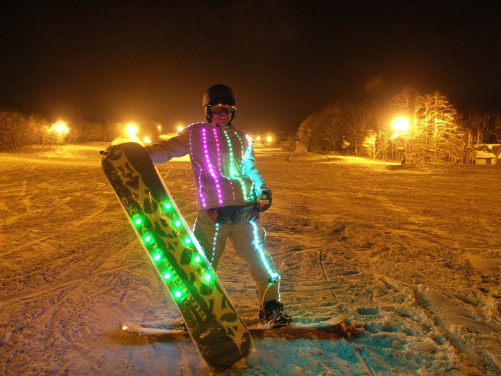 Rusutsu night skiing