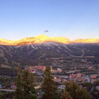 Breckenridge rises with the sun and the season's first dusting of powder. | Photo: Breckenridge Ski Resort taken on Sept. 15, 2016