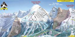 Goat's Eye Mountain trail map Sunshine Village