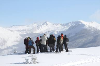 The view of Independence Pass from the ACES Snowshoe Tours on Richmond Ridge. | Photo: Aspen Snowmass