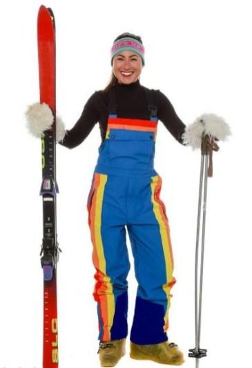 70s retro ski pants