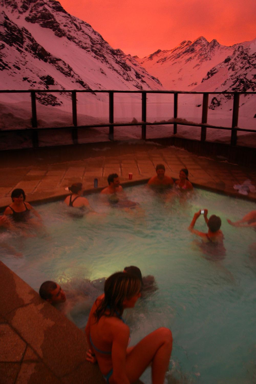 portillo sunset, portillo hot tub