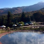 Hot springs in the Andes Mountains