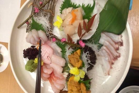 sushi in niseko, japan