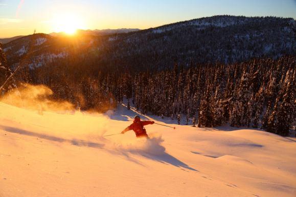 skiing at whitewater ski resort