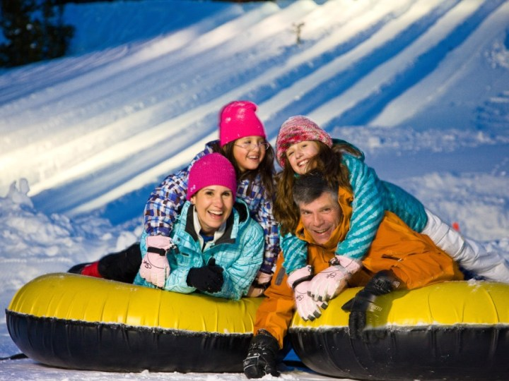 family snow tubing vail, adventure ridge vail