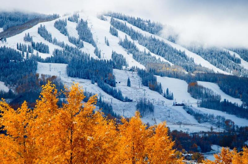 Snowmass snow winter fall