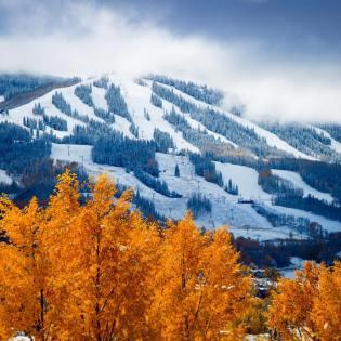 Snowmass snow winter fall