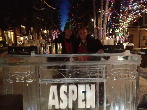 Enjoy a chilled, al fresco winter cocktail at Escobar's Ice Bar, located on the Hyman Street walking mall.