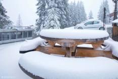 courchevel snowfall