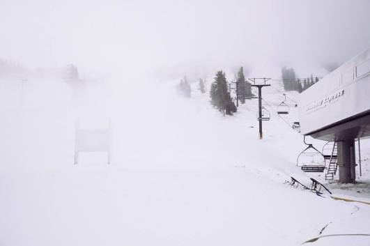 mammoth snow, mammoth snowfall, where is it snowing, where has it snowed