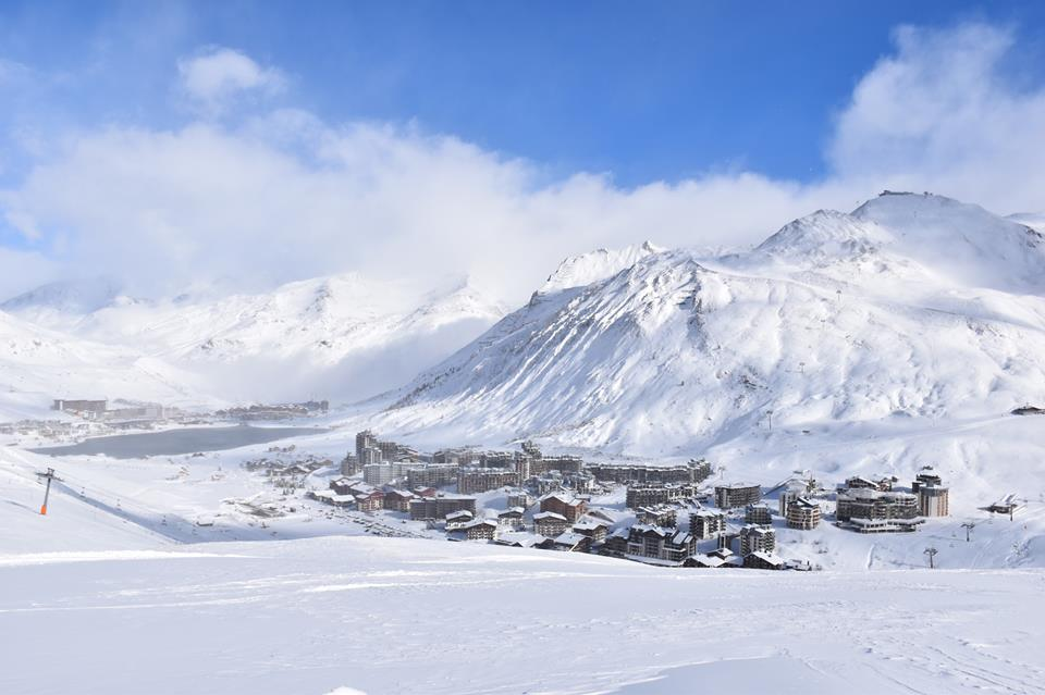 tignes france snowfall 2017-18