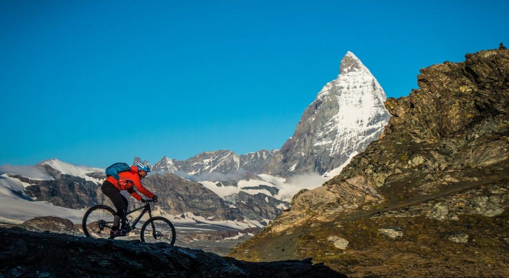 matterhorn mountain biking, zermatt mountain biking, matterhorn glacier skiing