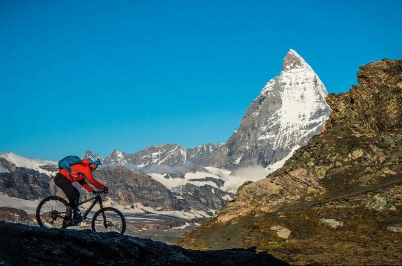 matterhorn mountain biking, zermatt mountain biking, matterhorn glacier skiing