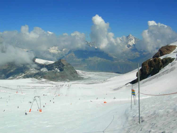 Summer glacier skiing zermatt
