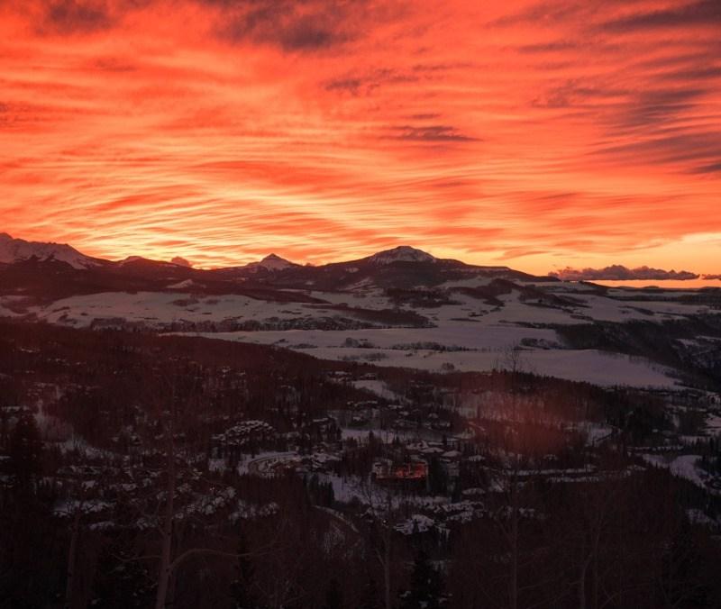 Telluride sunset